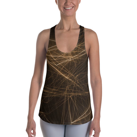 Cory Marquis Fitness Abstract Gold Women Racerback Tank