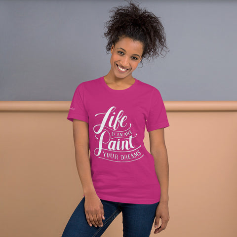 "Marquis Sinclair Women ""Life is Art"" Short-Sleeve T-Shirt"
