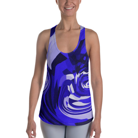 Cory Marquis Fitness Abstract Print Women Racerback Tank