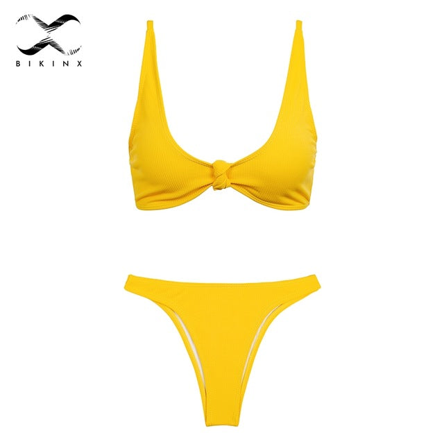 Bikini Knot Push up sexy swimsuit