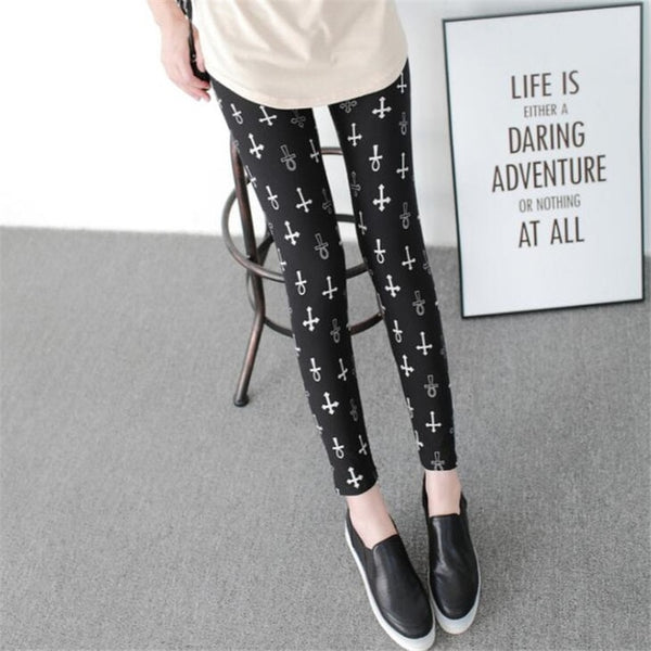 Design Printing Elasticity Leggings
