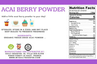 nutrition facts acai berry