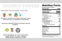 nutrition facts coconut powder