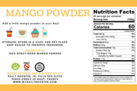 nutrition facts mango powder