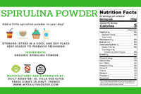 Nutrition facts spirulina powder