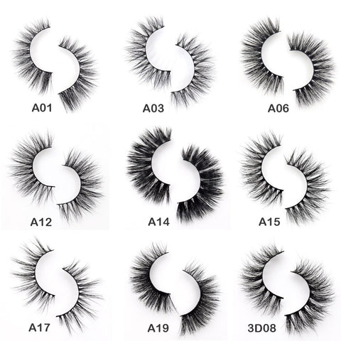 Visofree 3D eyelashes Mink eyelashes crossing Mink Lashes handmade full strip eyelashes 34 styles new Paquetes cilios Naturais