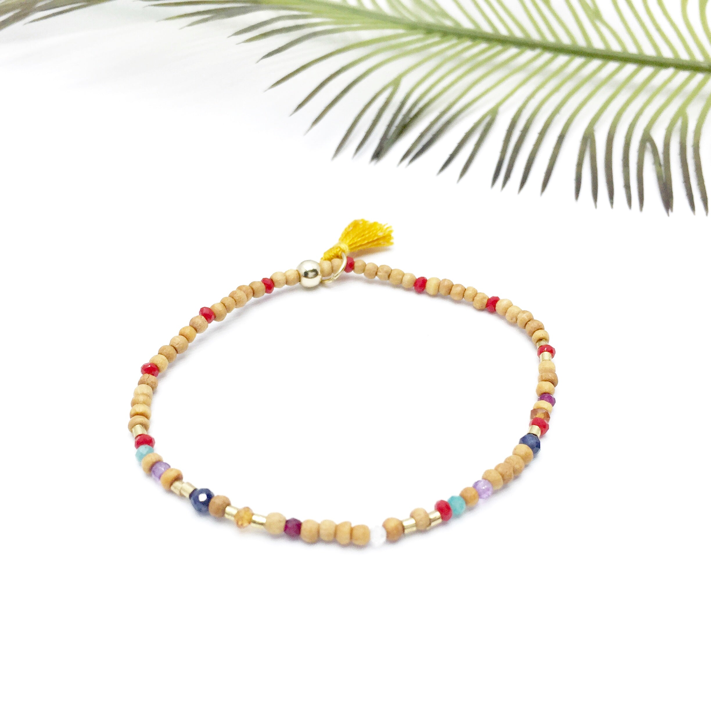 BE THE CHANGE Sandalwood Morse Code Mantra® Bracelet