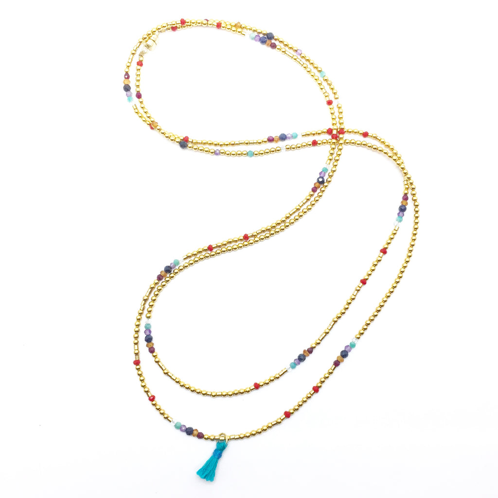 BE THE CHANGE Triple-Wear Morse Code Mala® Necklace