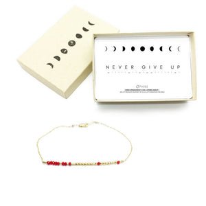 NEVER GIVE UP Morse Code Mantra® Bracelet