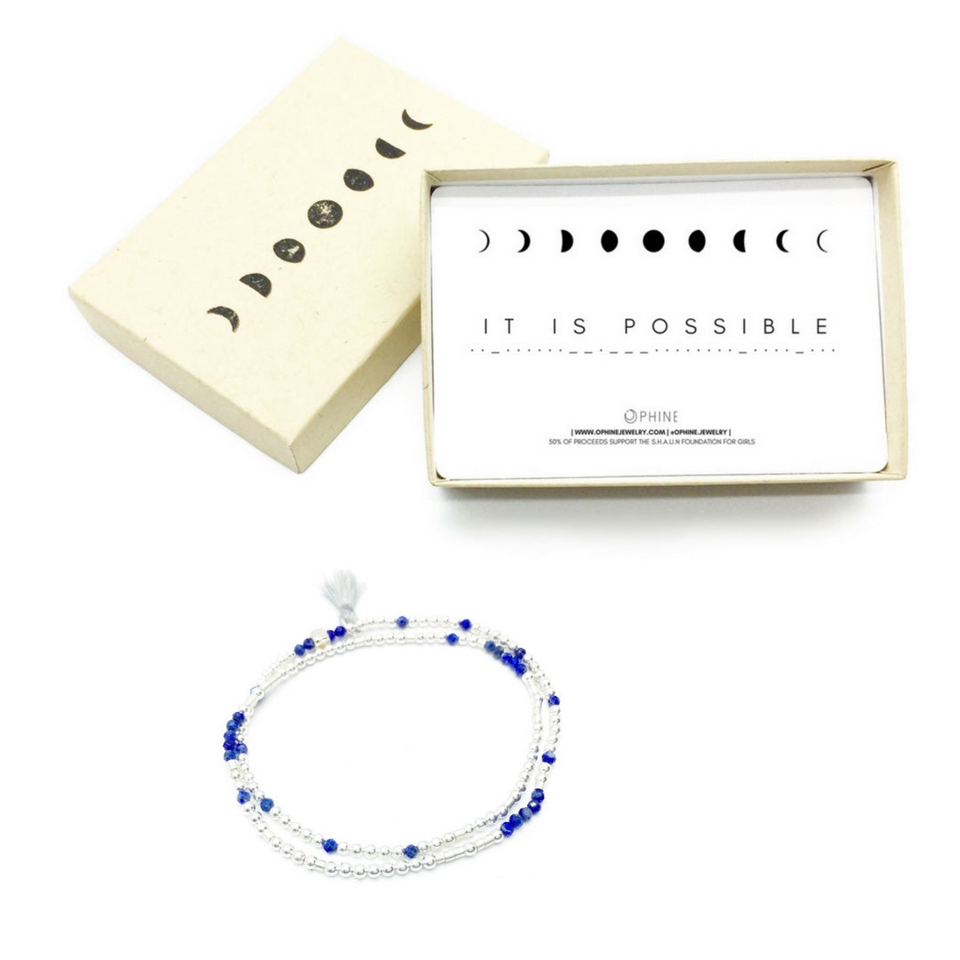 IT IS POSSIBLE Double-Wrap Morse Code Mala® Bracelet