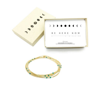 BE HERE NOW Triple-Wear Morse Code Mala® Necklace