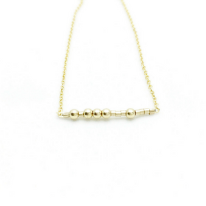 LET GO Morse Code Necklace