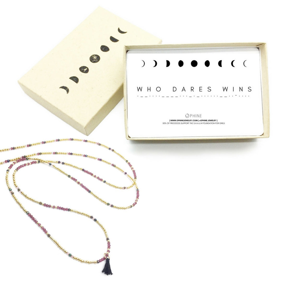 WHO DARES WINS Triple-Wear Morse Code Mala® Necklace