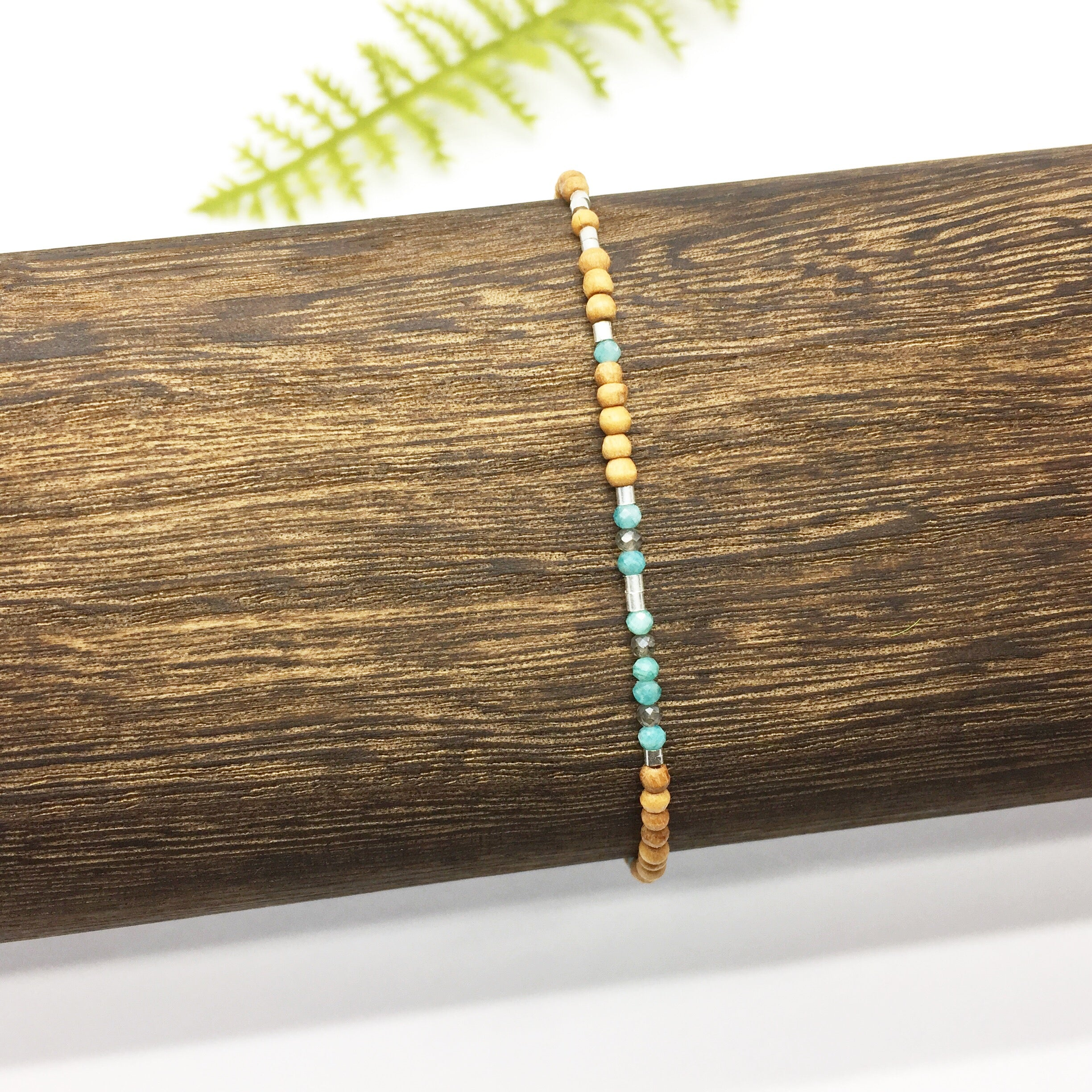 SEIZE THE DAY Sandalwood Morse Code Mantra® Bracelet