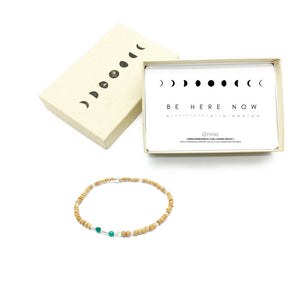 BE HERE NOW Sandalwood Morse Code Mantra® Bracelet