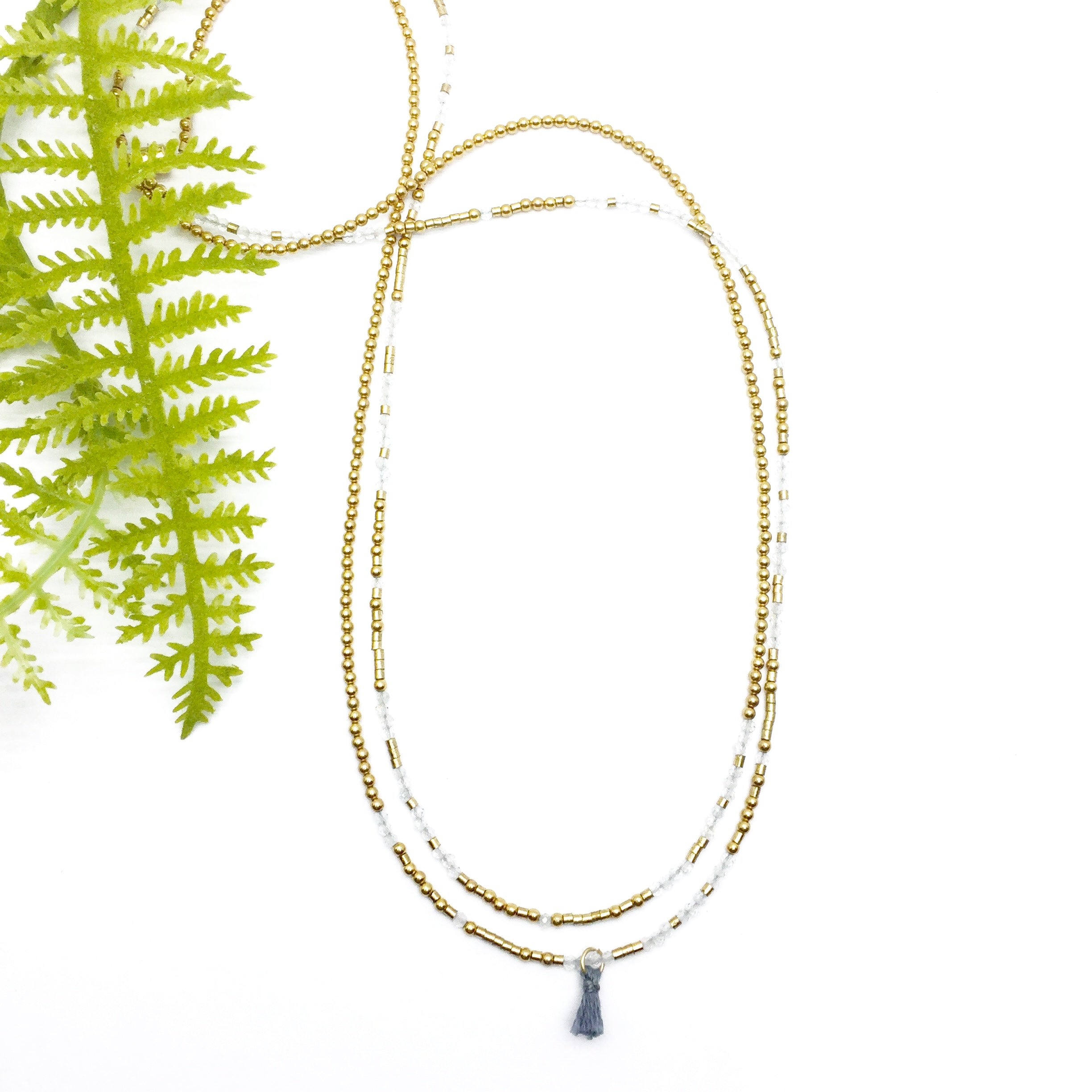 DREAMS COME TRUE Triple-Wear Morse Code Mala® Necklace