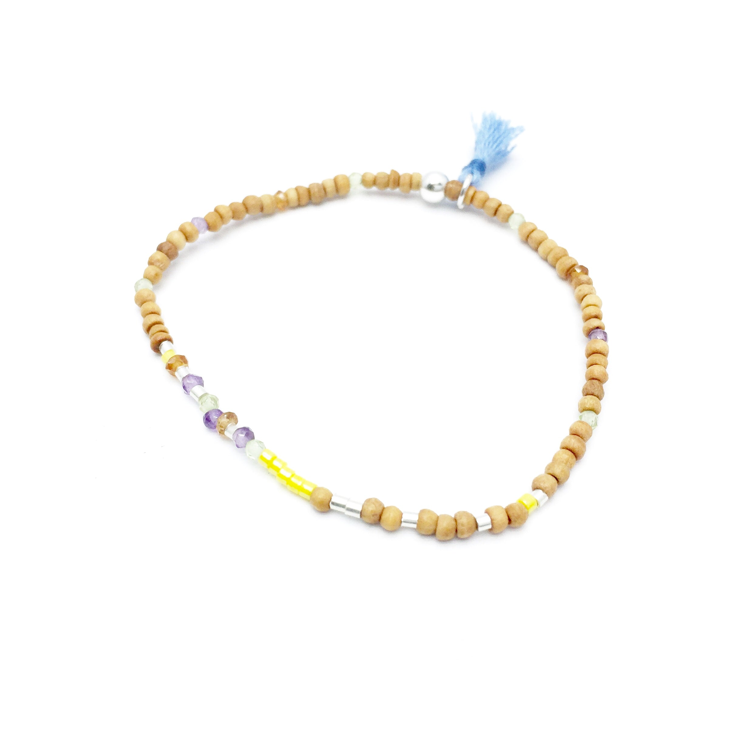 ALL IS WELL Sandalwood Morse Code Mantra® Bracelet