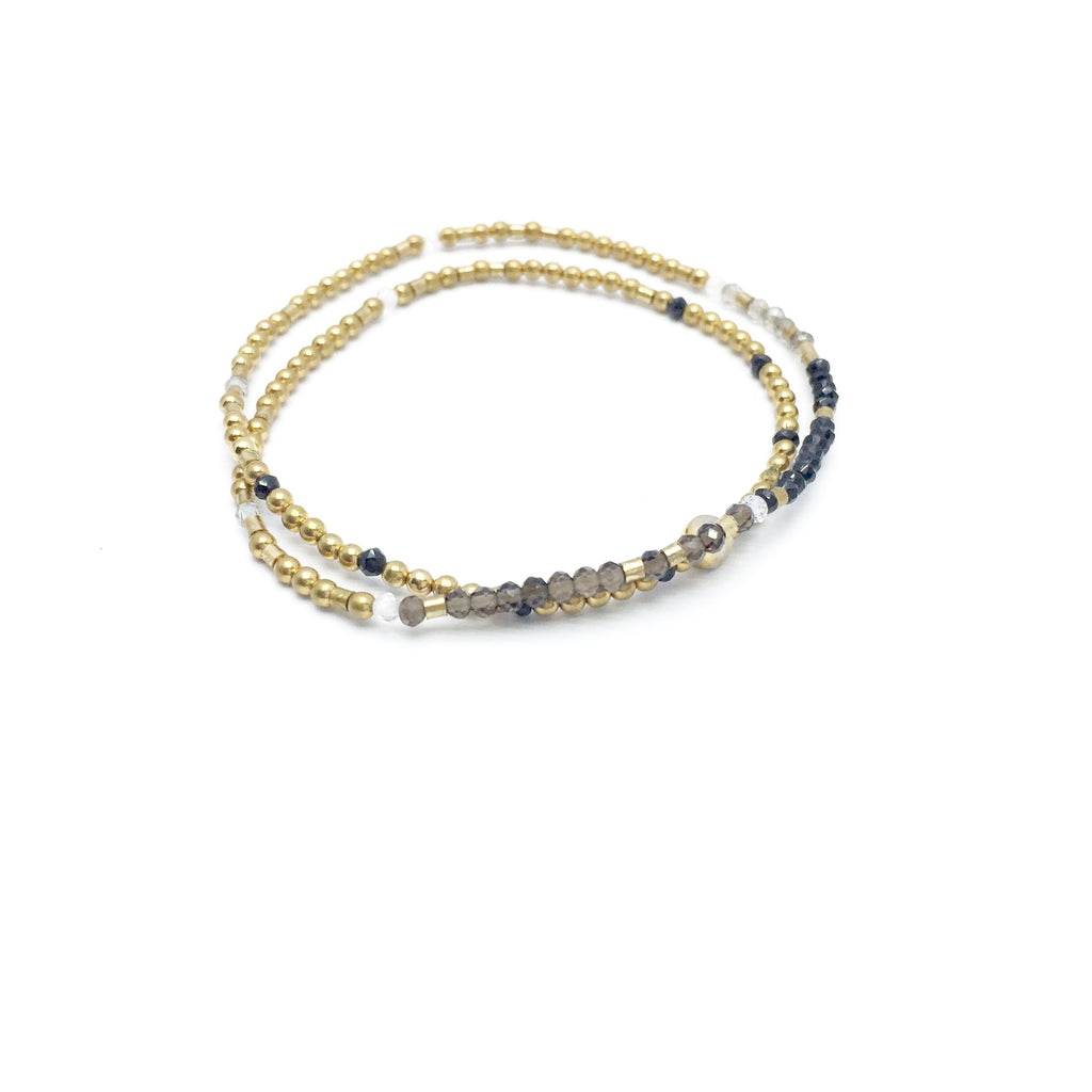 ASK BELIEVE RECEIVE Double-Wrap Morse Code Mala® Bracelet