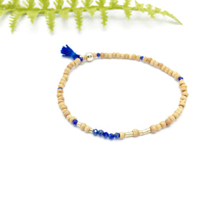 IT IS POSSIBLE Sandalwood Morse Code Mantra® Bracelet