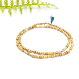 IT IS POSSIBLE Unisex Double-Wrap Sandalwood Morse Code Mala® Bracelet