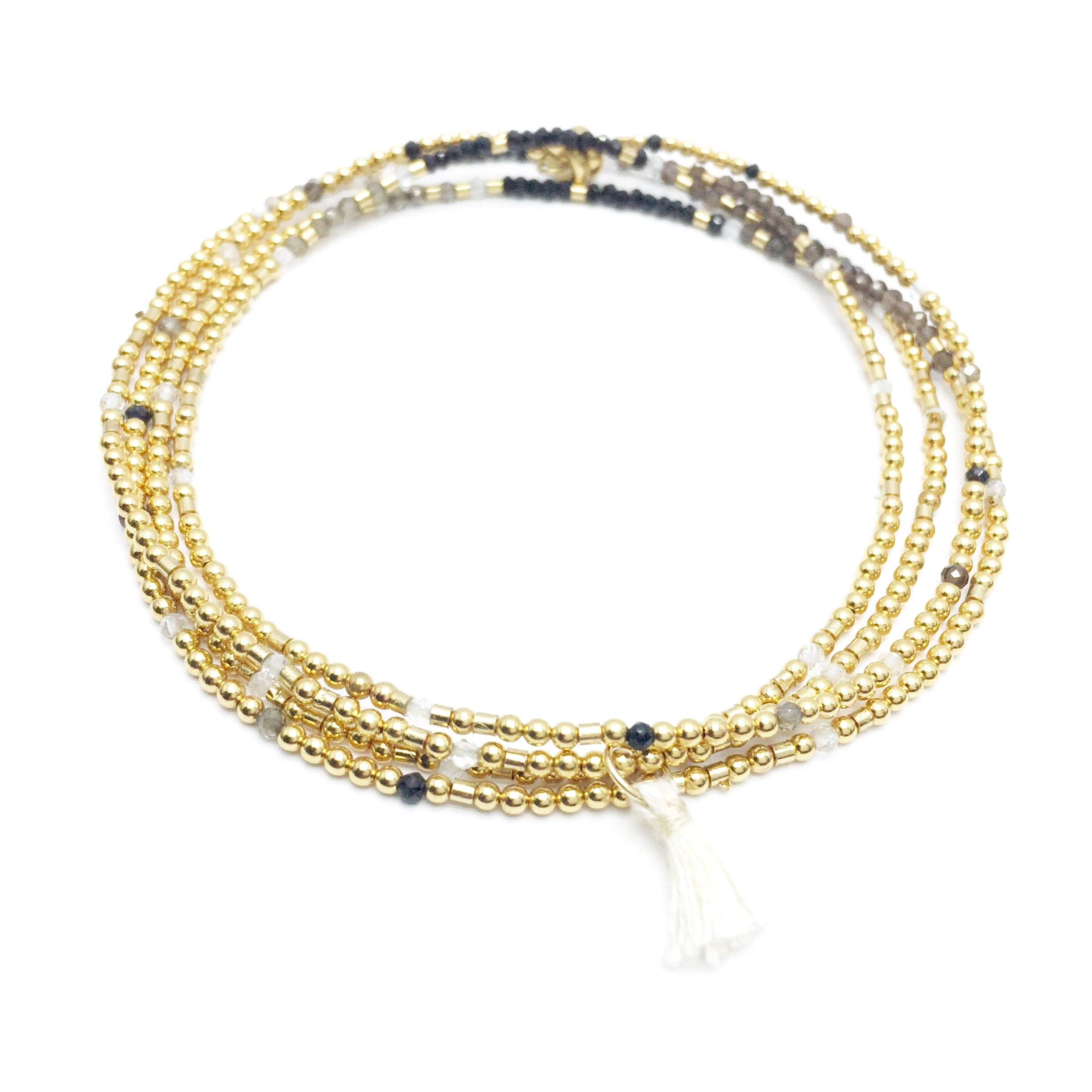 ASK BELIEVE RECEIVE Triple-Wear Morse Code Mala® Necklace