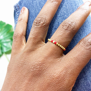 CHANGE 360° Morse Code Mantra® Ring