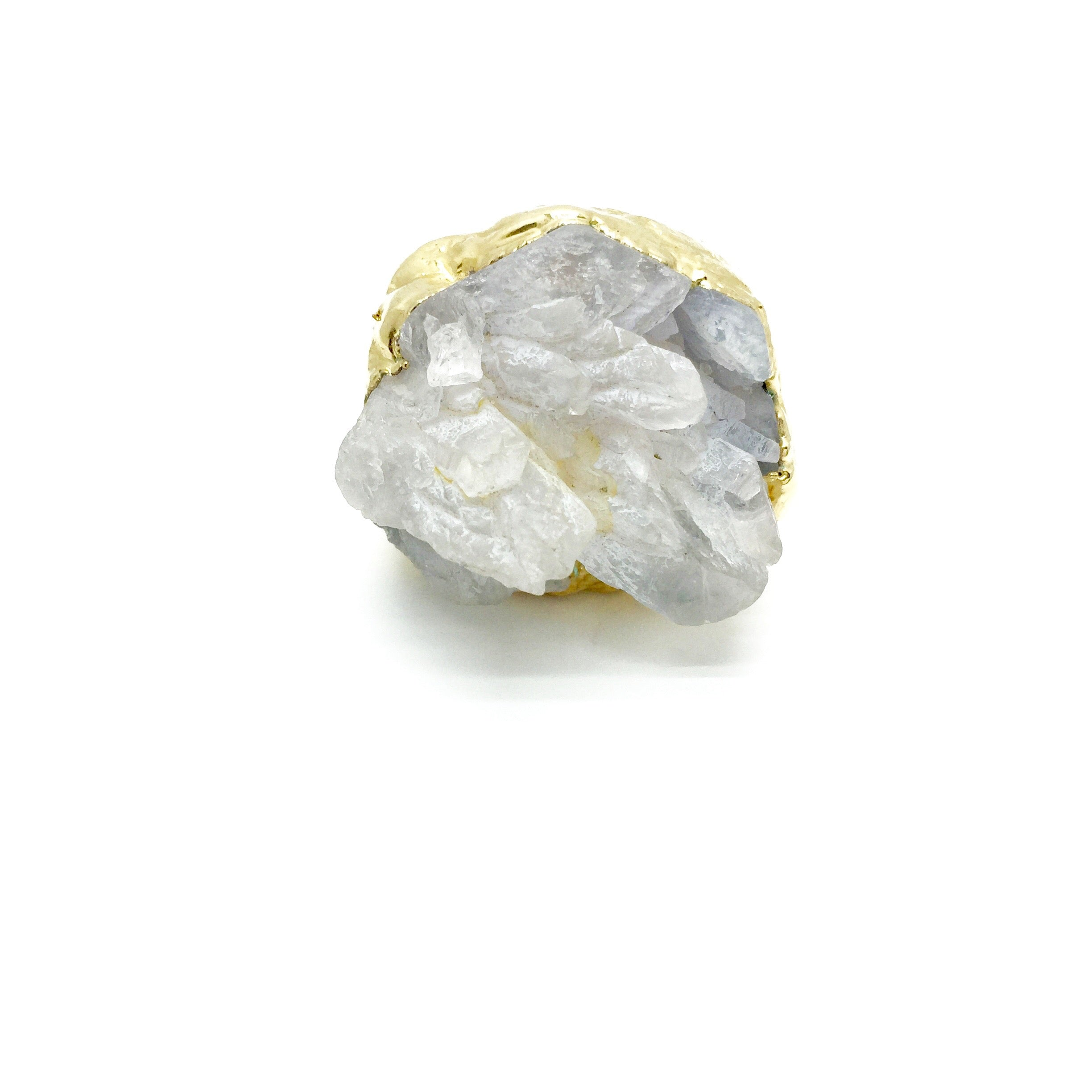 BLOOM Raw Quartz Crystal Ring