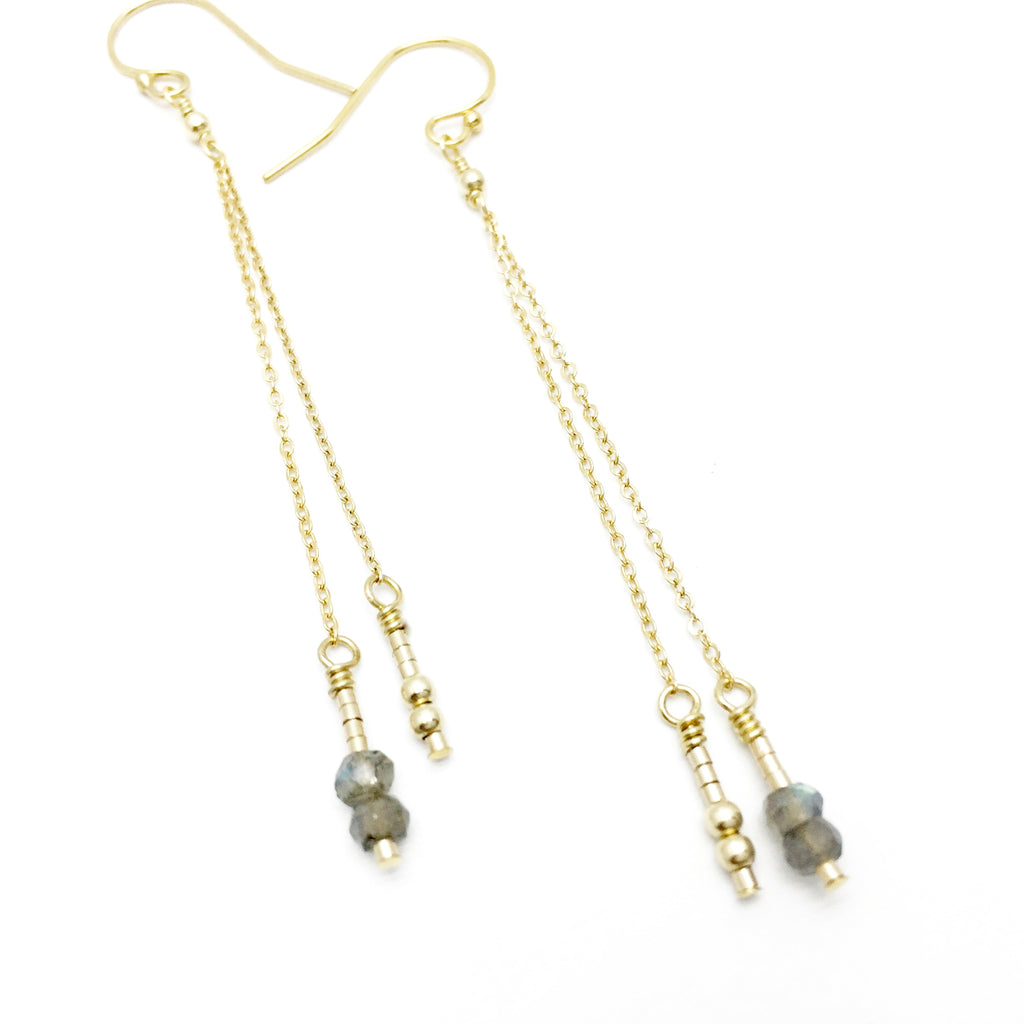 XOXO Morse Code Drop Earrings