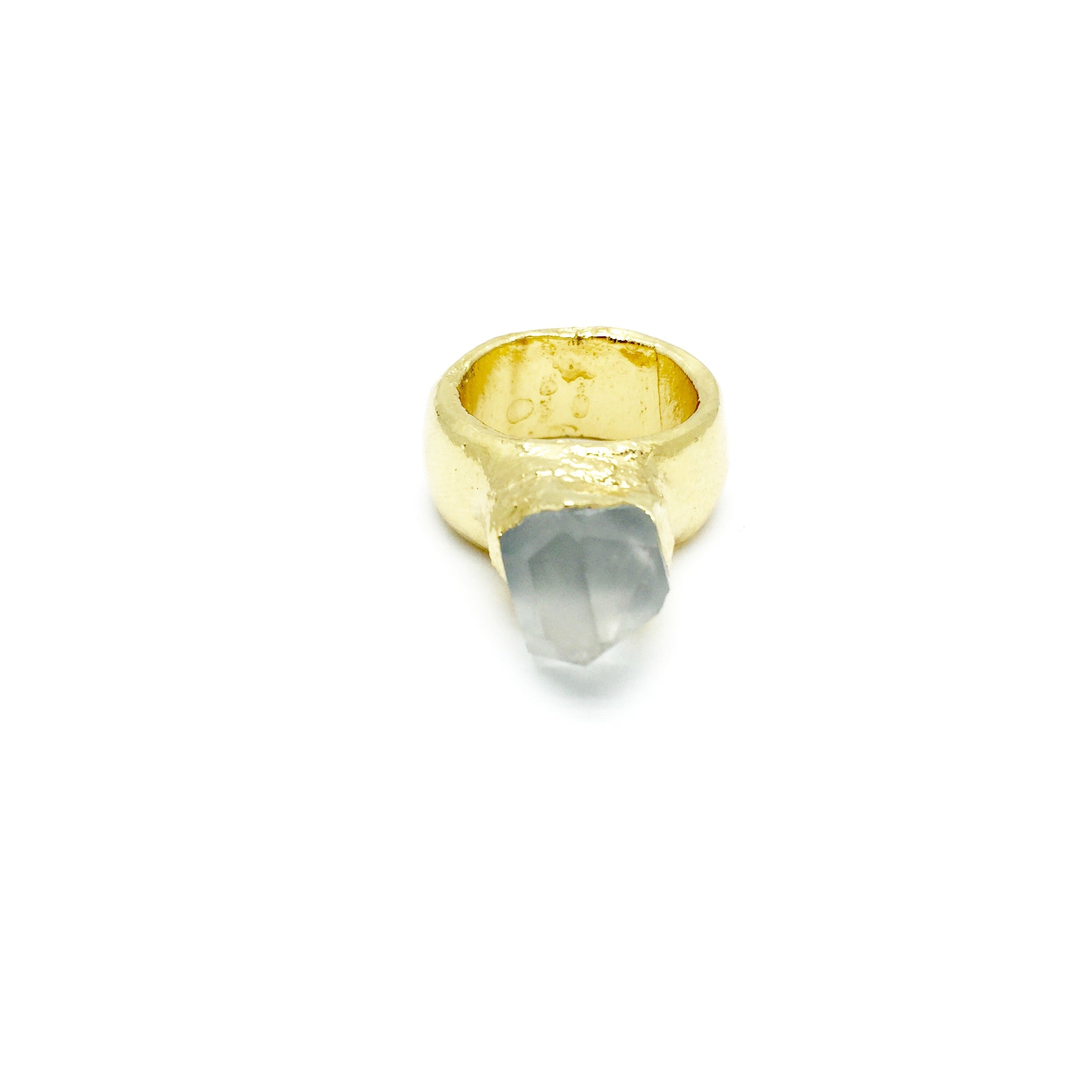 ASCENSION Raw Quartz Crystal Point Ring