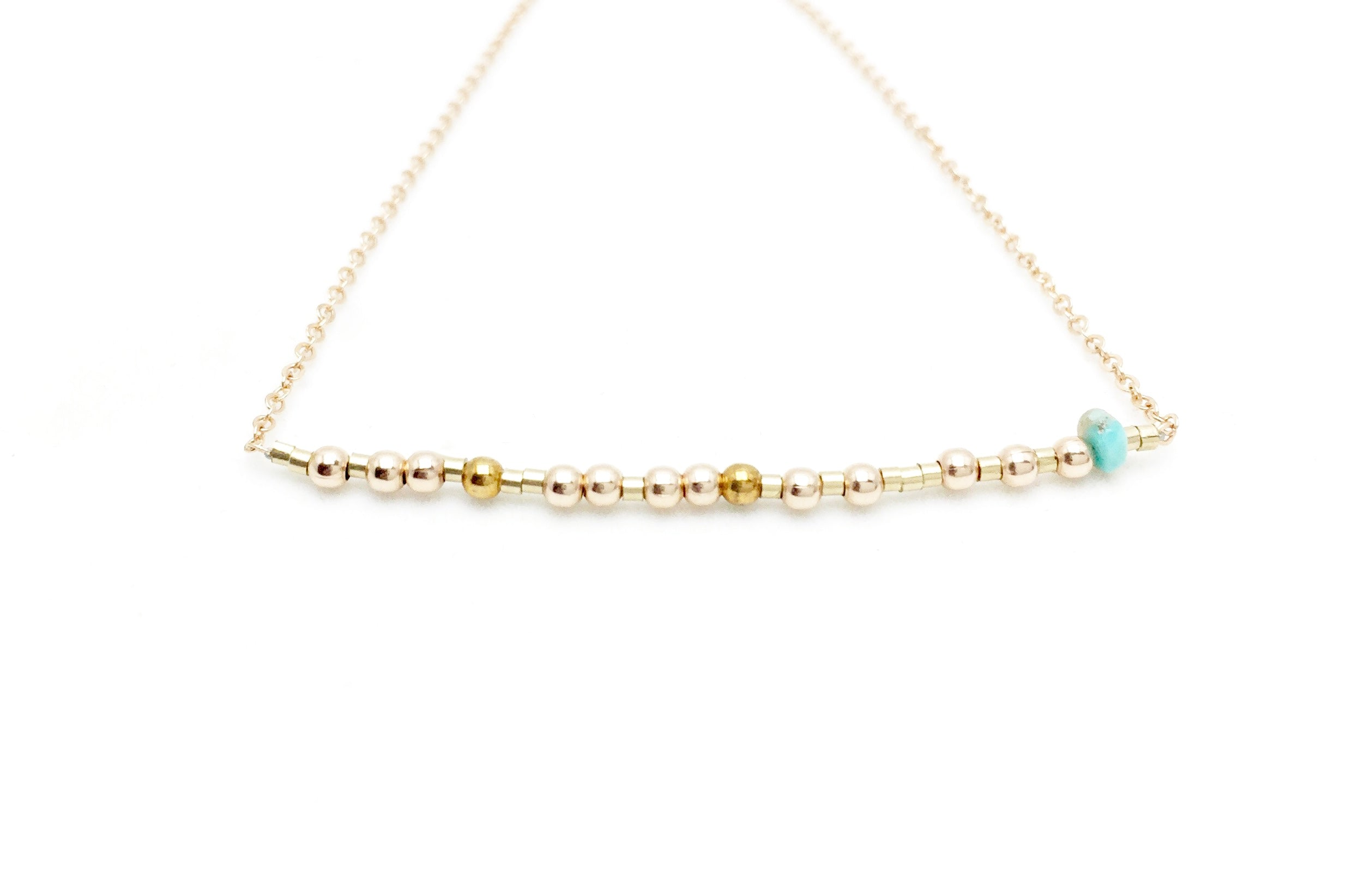CAPRICORN Morse Code Necklace