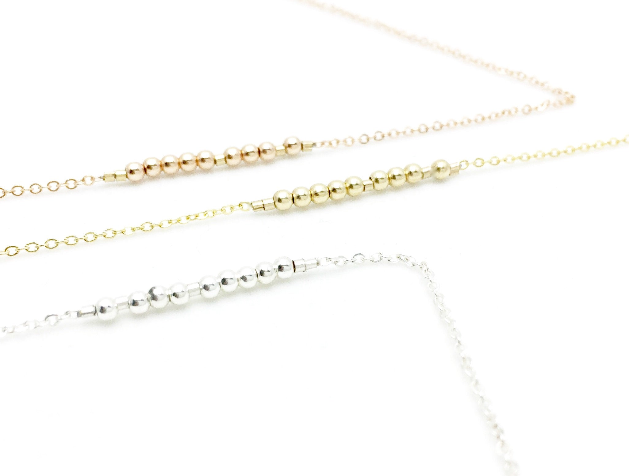 BFF Morse Code Necklace