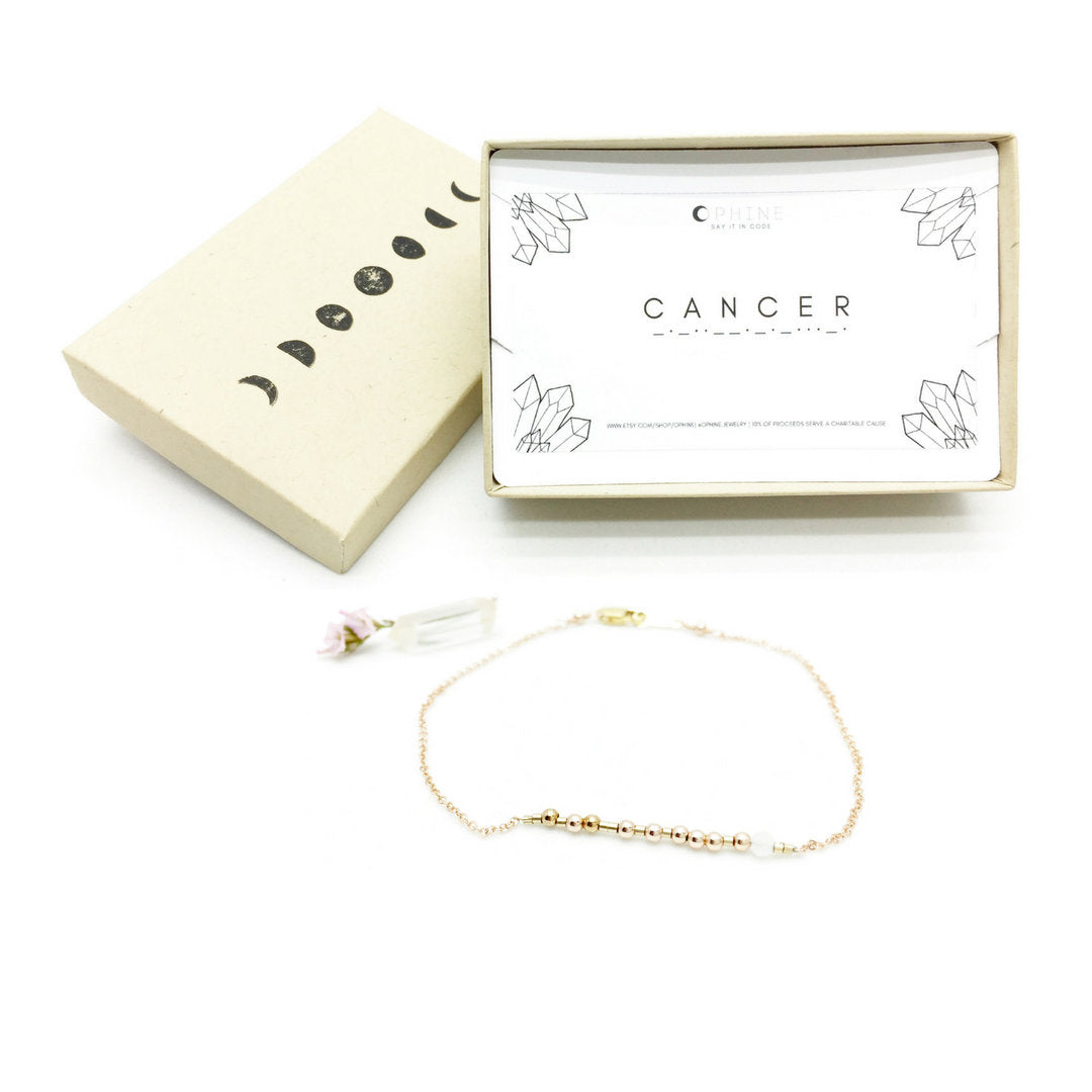 CANCER Morse Code Necklace