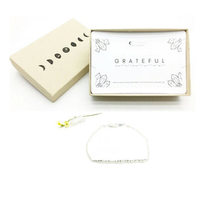 GRATEFUL Morse Code Necklace