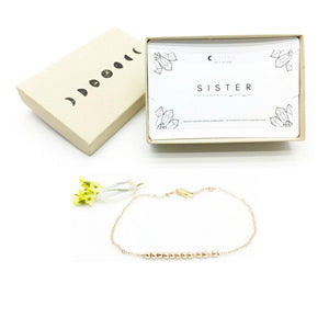 SISTER Morse Code Necklace