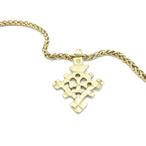 DESERT FLOWER Ethiopian Cross Necklace: Human Spiritå¨ collection