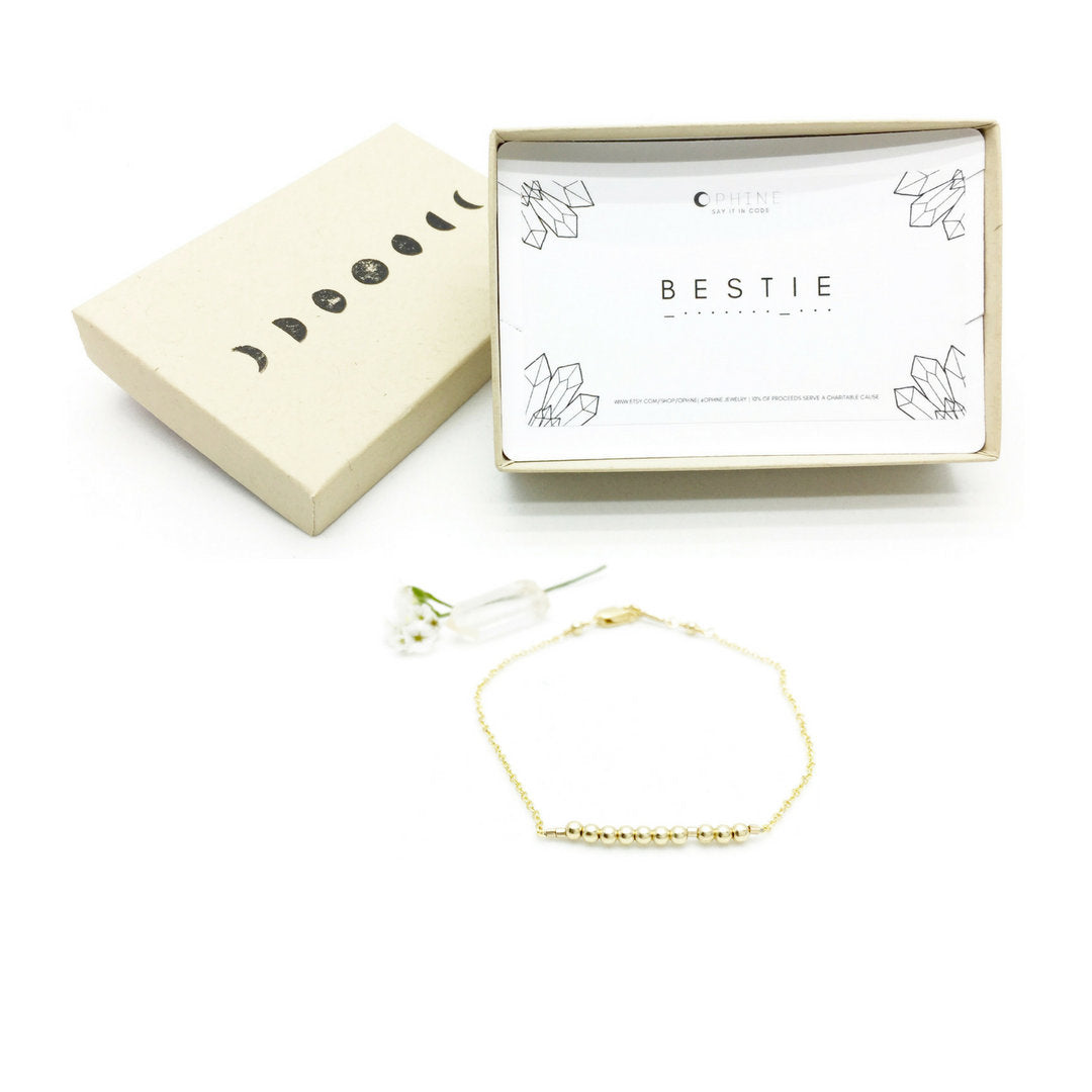 BESTIE Morse Code Necklace