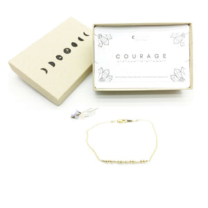 COURAGE Morse Code Necklace