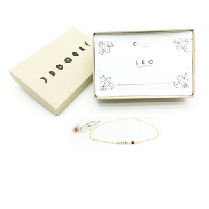 LEO Morse Code Necklace