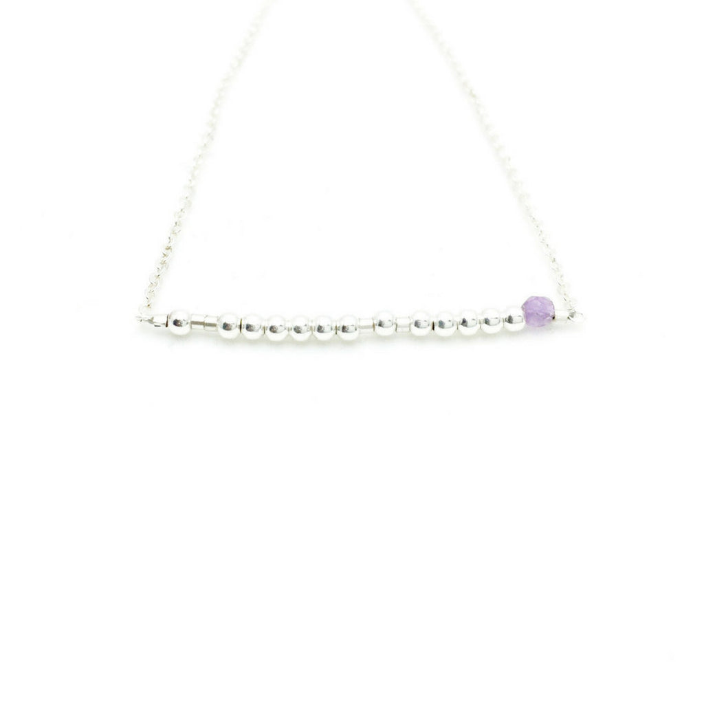 PISCES Morse Code Necklace