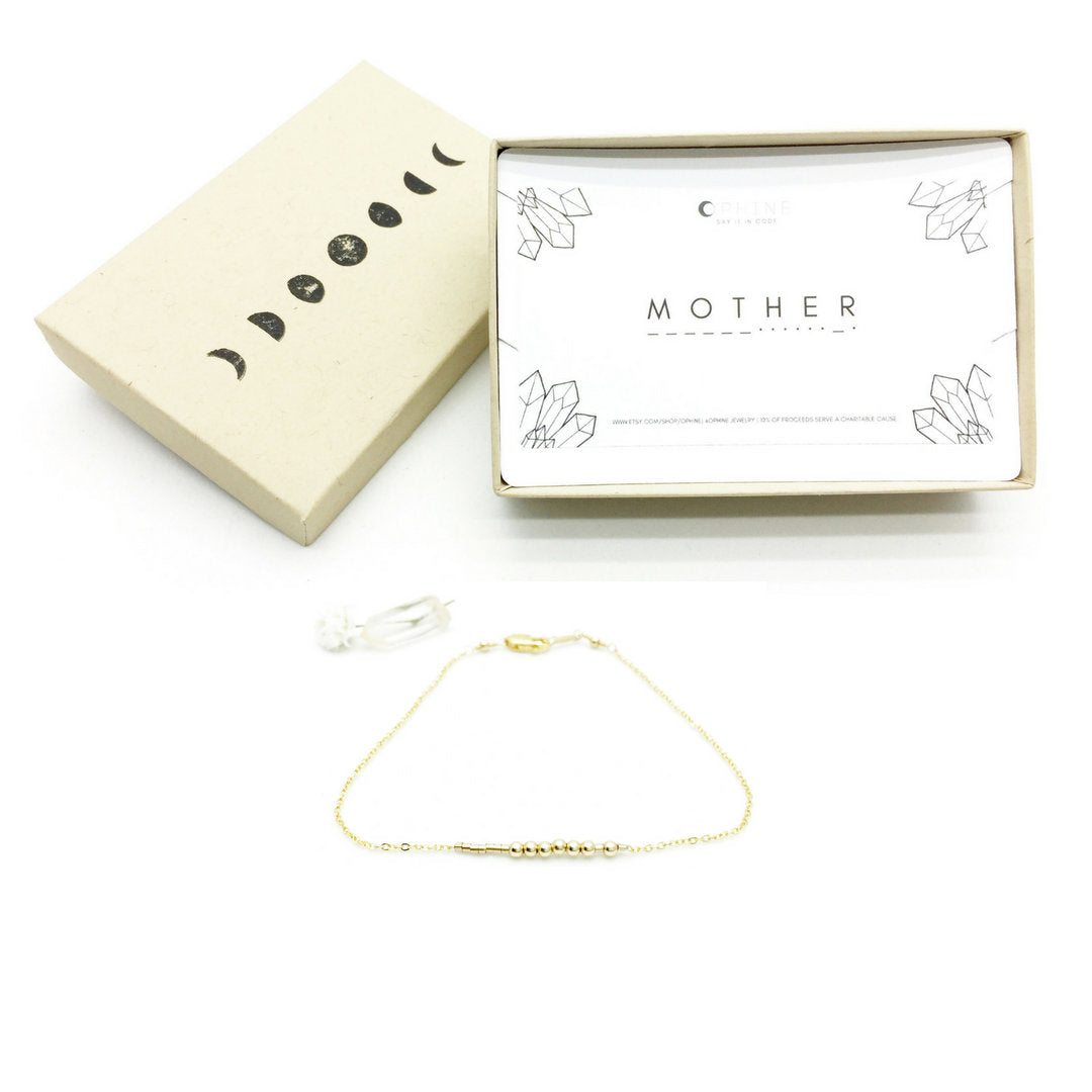 MOTHER Morse Code Necklace