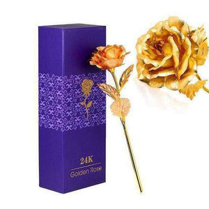 24K GOLD ROSE WITH GIFT BOX