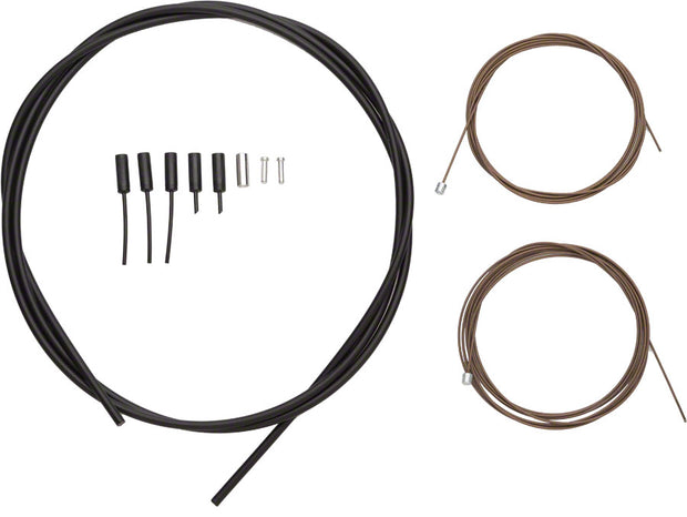 SP41 Polymer-Coated Derailleur Cable Set