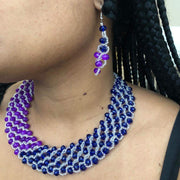 Ghanaian Bead Necklace & Earrings
