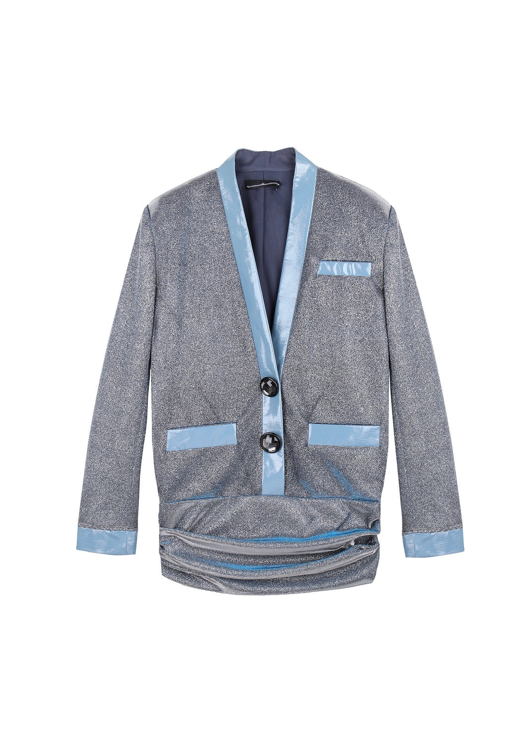 Sleep Over Sleep Suit Jacket Blazer Dress Blue