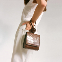 BALL BAG NUTELLA CROCO EMBOSSED LEATHER