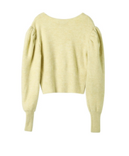 Still Still Studio What do you want from me bright yellow knit top