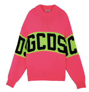 GCDS COLORFUL LOGO SWEATER