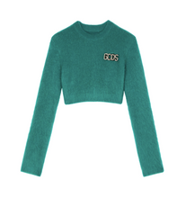 GCDS CROP THIEF TOP GREEN