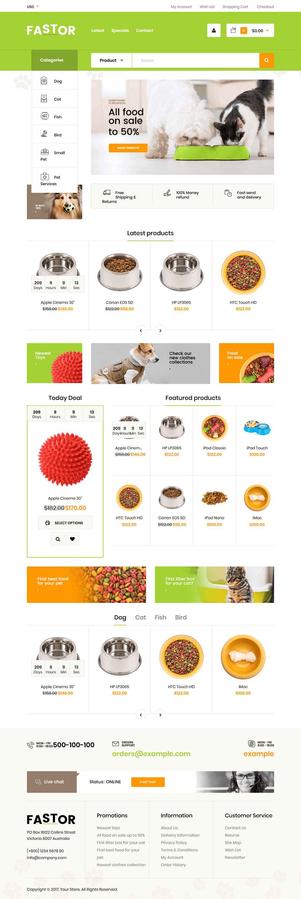 Highly recommend lovely Shopify themes for Pet Shop