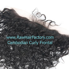 Cambodian Natural Curly Frontal 13x4